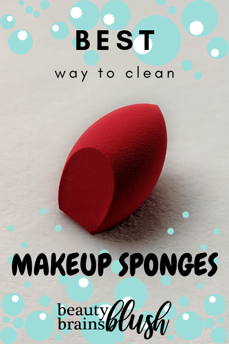 BEST Way to Clean Makeup Sponges! Check out the sanitization series on beautybrainsblush.com