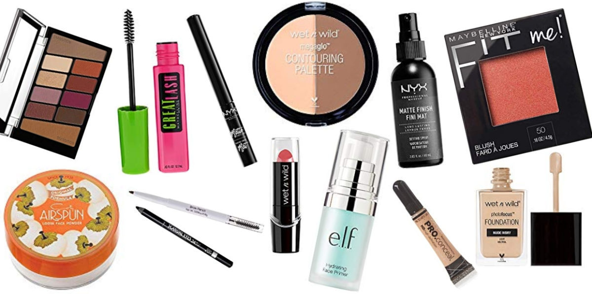 This is the cheapest full face of drugstore makeup that you can get. The quality of the makeup is surprisingly good, too! I cant believe all of this only costs $55, it would be so perfect for beginners.