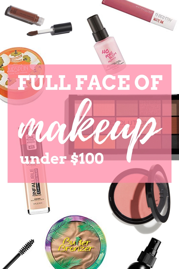 Full face of makeup under $100! This is all great quality makeup for an awesome price. This is great for beginners or budget buyers.