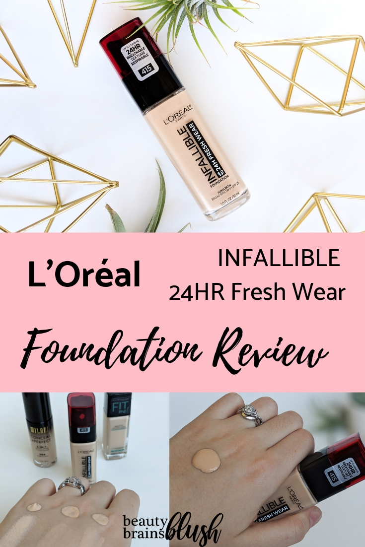 L Oreal Infallible 24hr Fresh Wear Foundation Review Beautybrainsblush