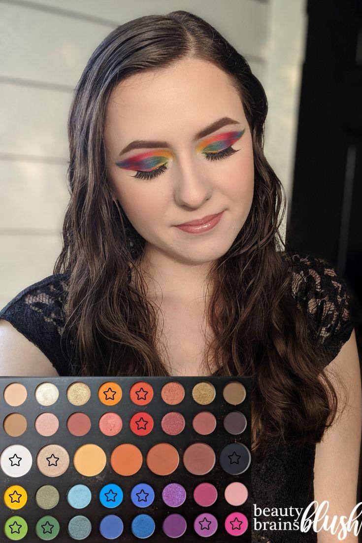 Rainbow Double Cut Crease James Charles X Morphe Eyeshadow Palette