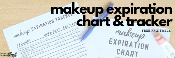 Did you know that your makeup expires?! Check out this free printable chart to know when your cosmetics will expire, and this free tracker so you can keep track of when your makeup expires! Get it for FREE on beautybrainsblush.com