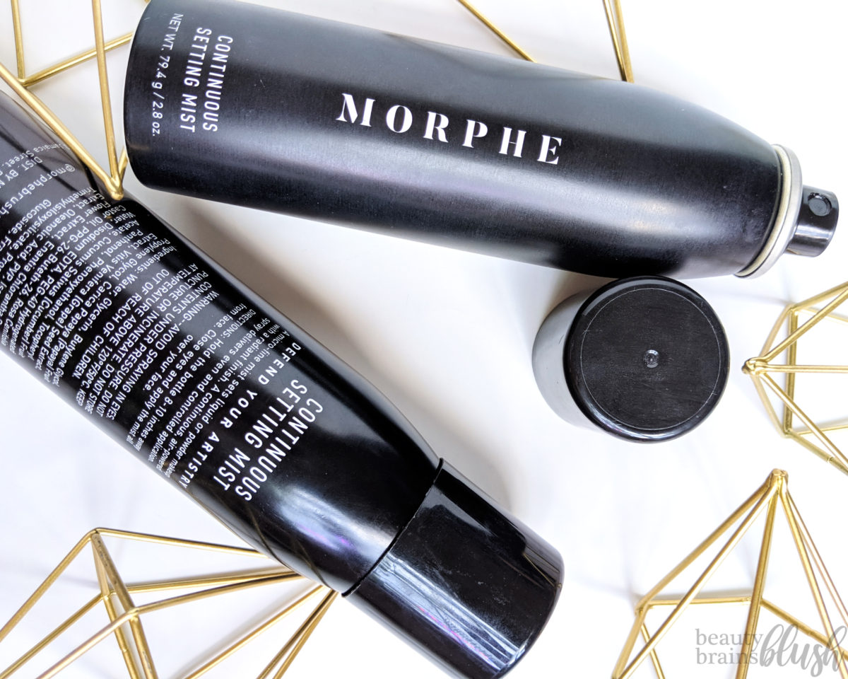 Morphe Continuous Setting Mist Review - beautybrainsblush.com
