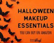Halloween Makeup Supplies - essentials from Amazon. beautybrainsblush.com