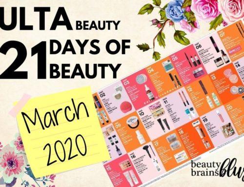 Ulta 21 Days of Beauty March 2020 Calendar