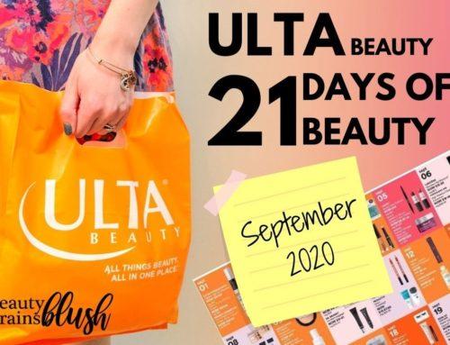 Ulta 21 Days of Beauty September 2020 Calendar